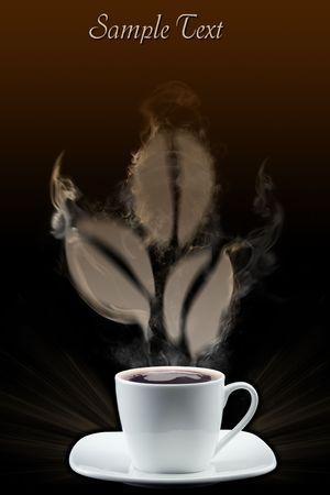 Kaffee-Körner, die durch Rauch