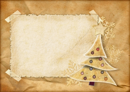 postcard background: Vintage Christmas card
