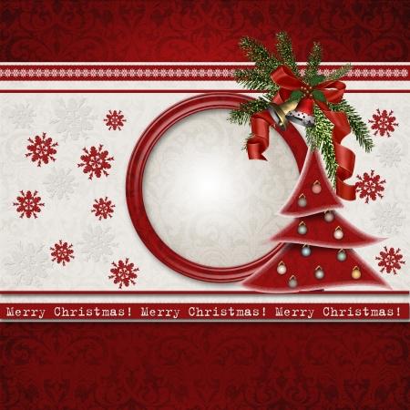 크리스마스 인사말 카드 스톡 콘텐츠 - 16245228