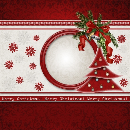 Christmas greeting card Stock Photo - 16245228