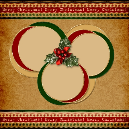season's greeting: Vintage Christmas background with space for text or photo  Stock Photo