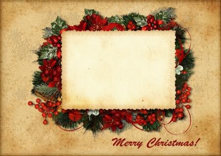 ビンテージ クリスマス カード 写真素材