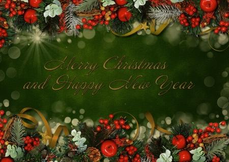 victorian christmas: Vintage Christmas greeting card
