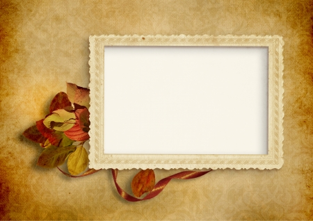 photoframe:  Vintage background with old photo frame