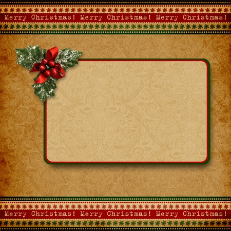 joyeux: Vintage Christmas background with space for text or photo  Stock Photo