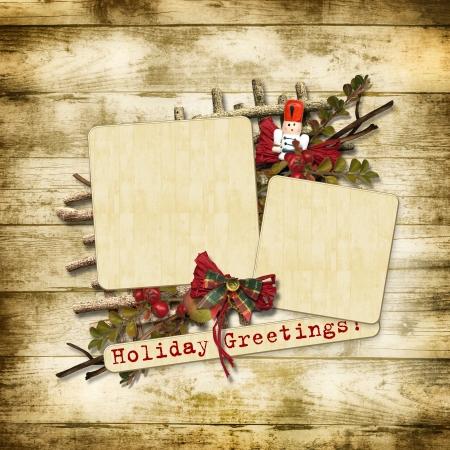 nutcracker: Christmas greeting card with nutcracker
