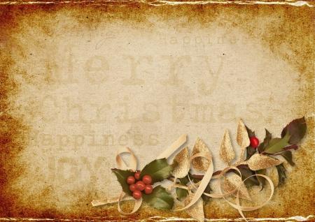 old photo album: Vintage Christmas background