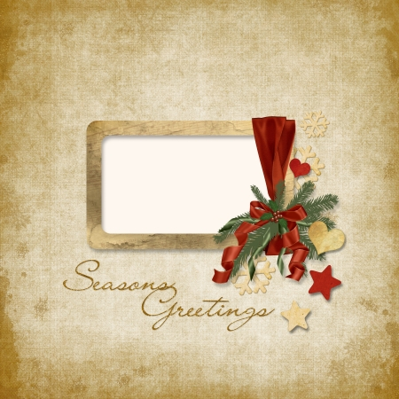 Vintage Christmas background with frame