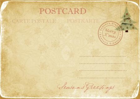 Vintage Christmas postcard Фото со стока - 16364057