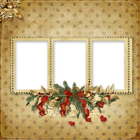 christmas memories: Christmas greeting card for a family