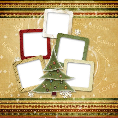 Christmas greeting card for a family Stock Photo