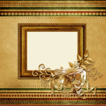 Beautiful vintage Christmas frame  photo