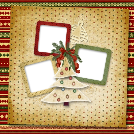 christmas invitation: Christmas greeting card for a family