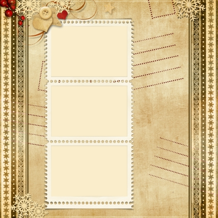 royal family: Vintage greeting background with post-card