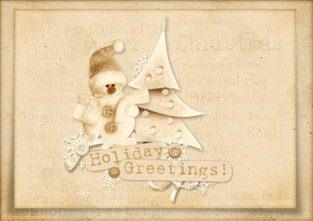 Vintage Christmas greeting card photo