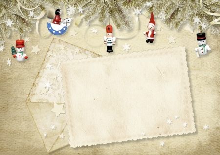 Holiday greeting card with envelope