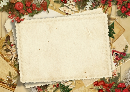 old victorian letter: Holiday s greeting card