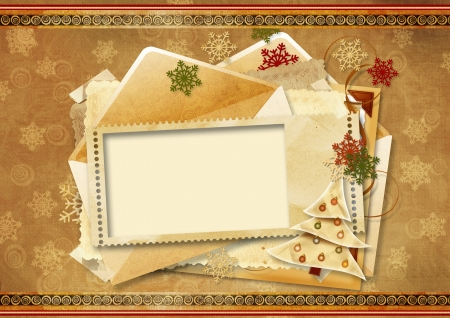 Vintage Holiday s greeting card  photo