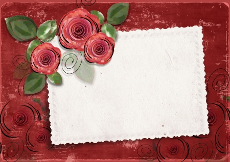 belle: Vintage background with card for congratulations and invitations