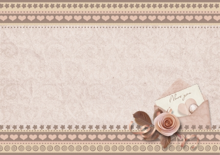 Vintage elegant background Valentine s Day photo