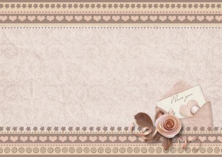 Vintage elegant background Valentine s Day