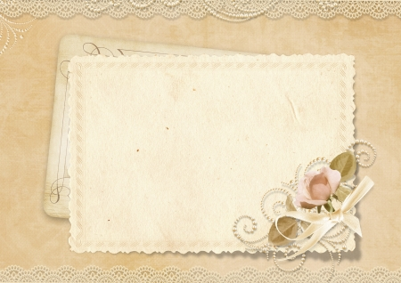 wedding photo frame: Greeting card with space for photo and text