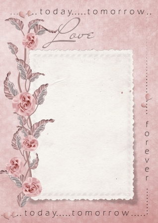 beloved: Retro love card with roses