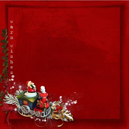 Christmas Greeting Card   Christmas train  photo