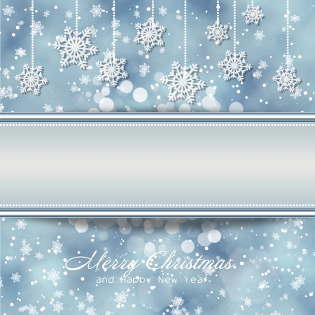Christmas snowy background with space for text or photo  photo