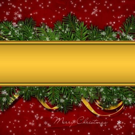 season's greeting: Christmas greeting background  Stock Photo