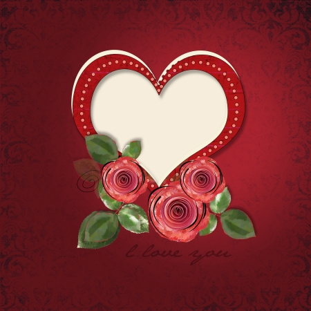 Valentines day vintage card Stock Photo - 16528724