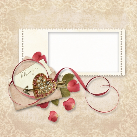 Vintage Love Card  photo