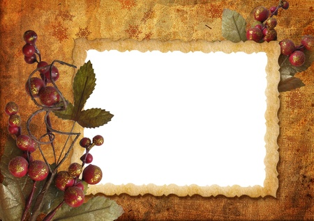 Vintage christmas frame  Stock Photo - 16674791