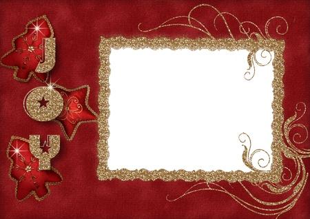 Christmas greeting frame Stock Photo