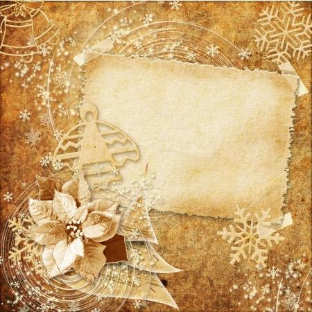 ビンテージ クリスマスのグリーティング カード