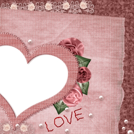 st valentine: Vintage tarjeta para el D�a de San Valent�n s