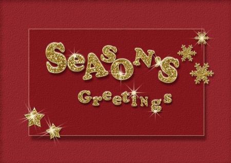 season's greeting: Vintage Christmas greeting card
