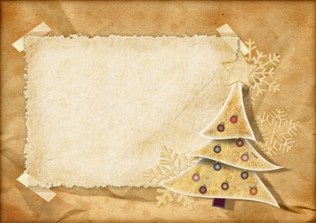 ビンテージ クリスマス ポストカード 写真素材