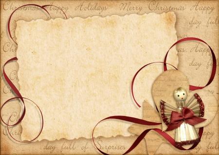christmas angels: Vintage Christmas postcard