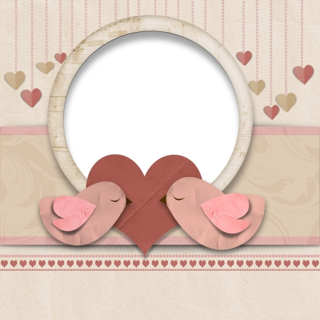 lady bird: Happy Valentines Day  Background with space for text or photo