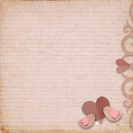 Happy Valentines Day  Vintage background with space for text or photo Stock Photo - 17353928