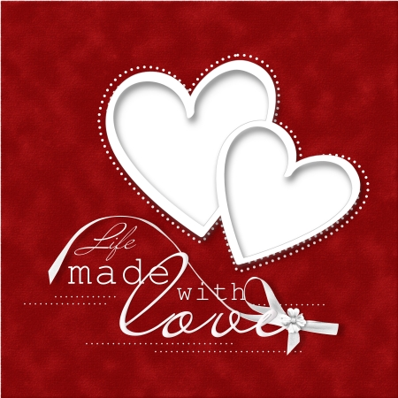 Valentine s Day Card beautiful red background with frame-heart  Valentine s Day Card beautiful red background with frame-heart  photo