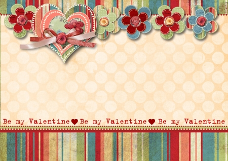 Vintage Valentine s Day Card Фото со стока - 17353924