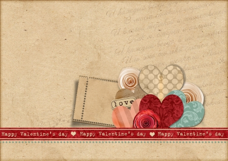 photo of object s: Happy Valentines Day Retro card  Stock Photo