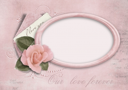 photo of object s: Vintage beautiful love card