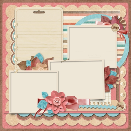 Retro family album 365 Project  Scrapbooking templates   Stock Photo