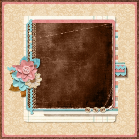Retro family album  Title  Scrapbooking templates