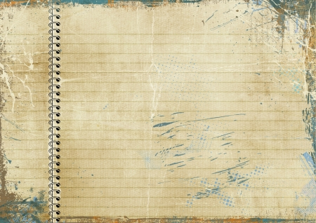 Vintage lined paper photo