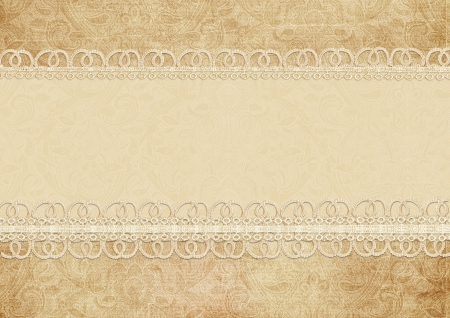 ragged: Gorgeous vintage background with lace  Stock Photo