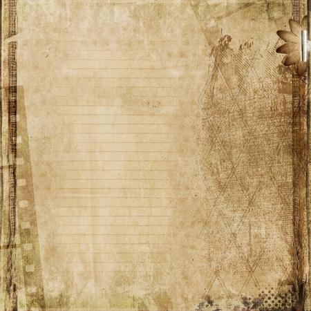árbol genealógico: Grunge fondo de cartón Foto de archivo